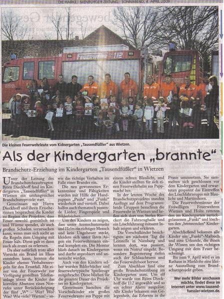 Die Harke, 04.04.2009©Kindergarten Tausendfüßler