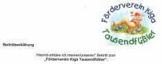 Beitrittserklärung©Kindergarten Tausendfüßler