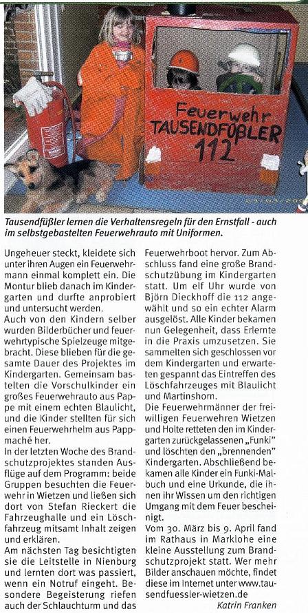 Weserblick, 05.05.2009©Kindergarten Tausendfüßler