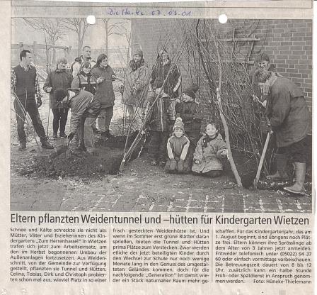 Die Harke, 07.03.2001©Kindergarten Tausendfüßler