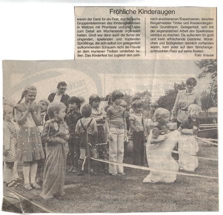 Fröhliche Kinderaugen©Kindergarten Tausendfüßler