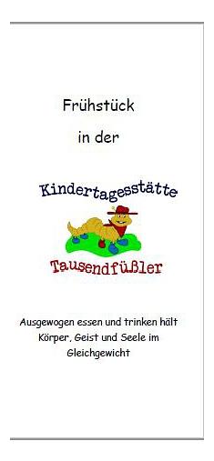 Frühstücks-Flyer©Kindergarten Tausendfüßler