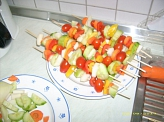 Gemüsespiesse©Kindergarten Tausendfüßler