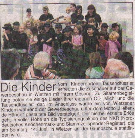 Blickpunkt, 10.06.2009©Kindergarten Tausendfüßler