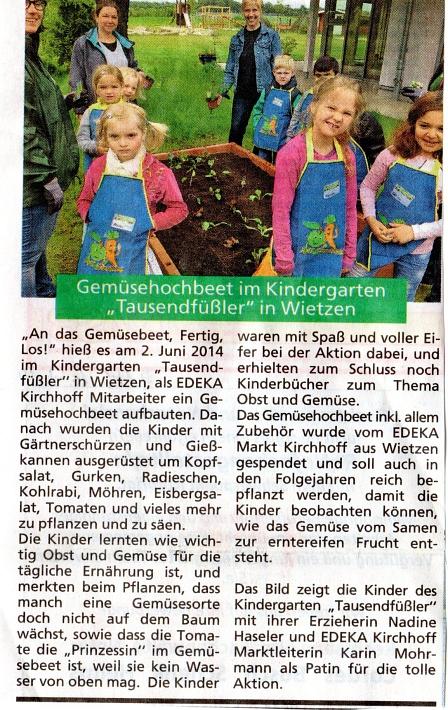 HamS, 04.07.2014©Kindergarten Tausendfüßler