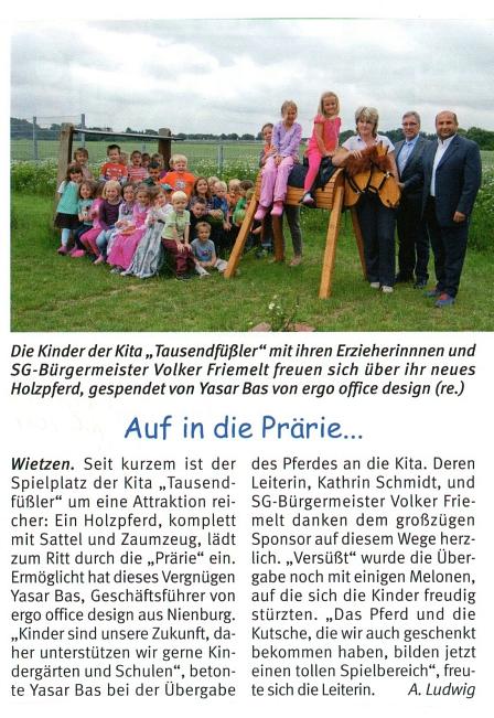 Weserblick, Juli 2014©Kindergarten Tausendfüßler
