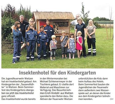 Die Harke, 09.08.2014©Kindergarten Tausendfüßler