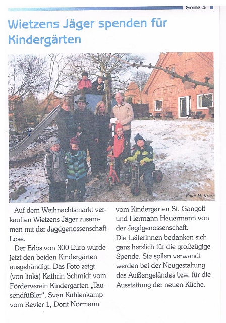 Gemeindebrief, April 2013 © Kindergarten Tausendfüßler