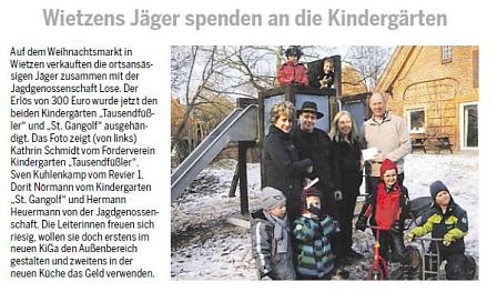 Weserblick, Januar 2013©Kindergarten Tausendfüßler