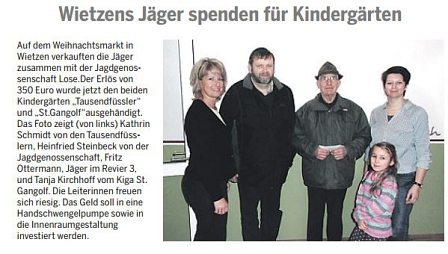 Die Harke, 04.02.2015©Kindergarten Tausendfüßler
