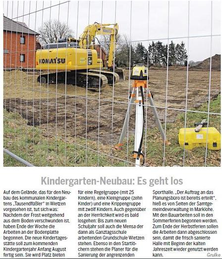 Die Harke, 02.03.2013©Kindergarten Tausendfüßler