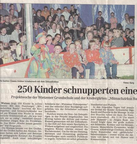 Die Harke, Mai 2002©Kindergarten Tausendfüßler