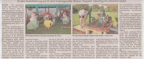 Kreiszeitung, 16.09.2016©Kindergarten Tausendfüßler
