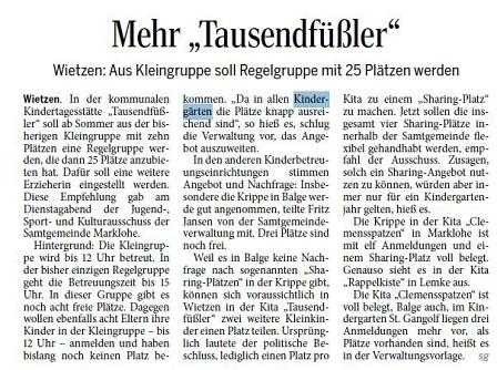 Die Harke, 20.02.2014©Kindergarten Tausendfüßler