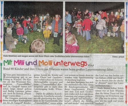 Mit Milli und Molli©Kindergarten Tausendfüßler