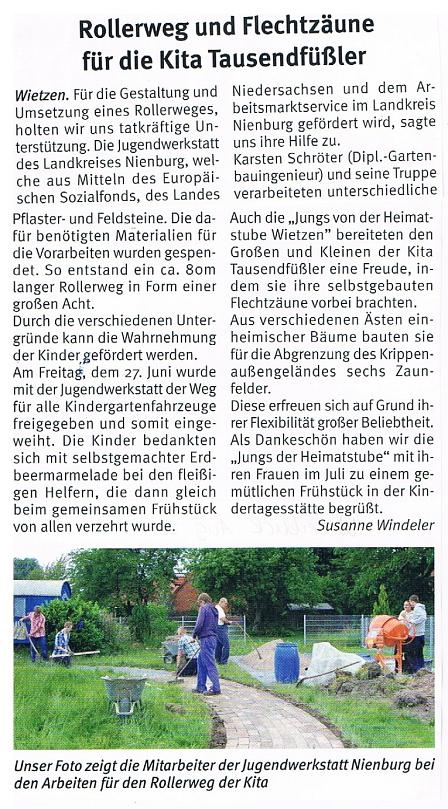 Weserblick, Juni 2014©Kindergarten Tausendfüßler