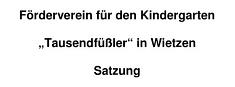Satzung©Kindergarten Tausendfüßler
