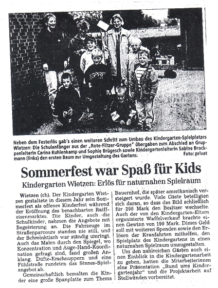 Sommerfest©Kindergarten Tausendfüßler