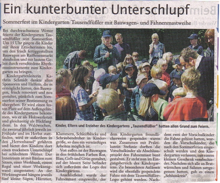 Die Harke, 27.06.2009©Kindergarten Tausendfüßler