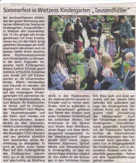 HamS, 28.06.2009©Kindergarten Tausendfüßler