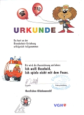 Urkunde©Kindergarten Tausendfüßler