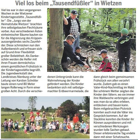 Die Harke, 04.07.2014©Kindergarten Tausendfüßler