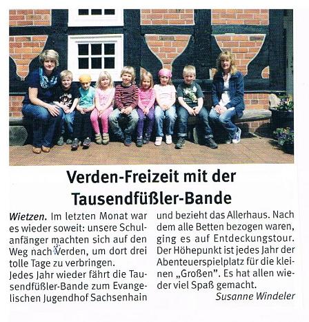 Weserblick, Juli 2013©Kindergarten Tausendfüßler
