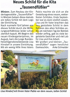 Weserblick, Dezember 2008, Ausgabe 12©Kindergarten Tausendfüßler
