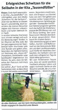 Weserblick, Juni 19©Kindergarten Tausendfüßler