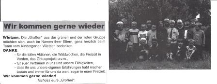 Juli 2002©Kindergarten Tausendfüßler